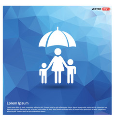 family social insurance icon vector image