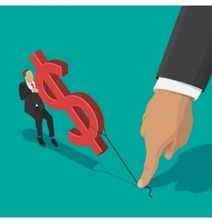 fighting over money vector image