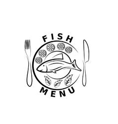 Fish menu vector