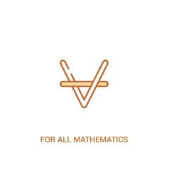 For all mathematics concept 2 colored icon simple vector
