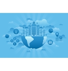Global Company Concept blue vector image
