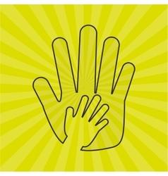 Hand human design vector