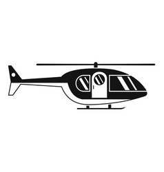 Hospital helicopter icon simple style vector