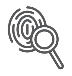 investigation line icon crime and exploration vector image