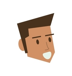 Isolated man cartoon head design vector