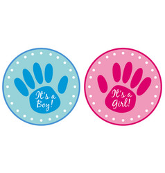 label design for boy and girl vector image