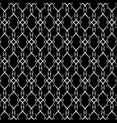 Lacy black and white pattern eight vector