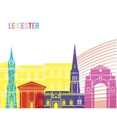 leicester skyline pop vector image