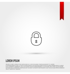 Lock icon Flat design style vector image