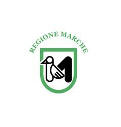 Marche flag vector