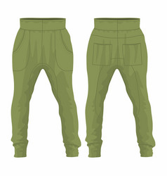 mens military sweatpants vector image