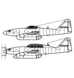Messerschmitt me262 vector