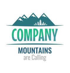 mountains are calling - perceptible logo vector image