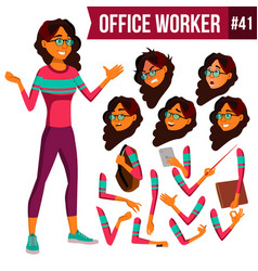 Office worker arab saudi woman business vector