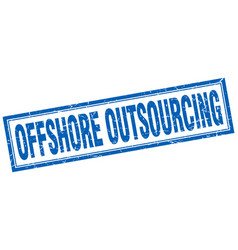 offshore outsourcing square stamp vector image