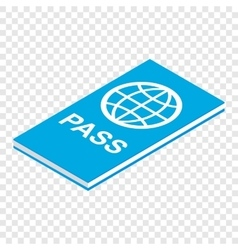 Passport isometric 3d icon vector