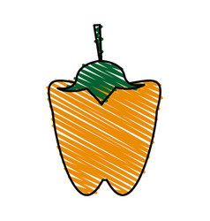 Peppers food doodle vector