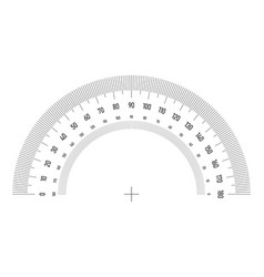 Protractor grid for measuring angle or tilt vector