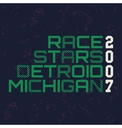Race stars typography t-shirt graphics vector