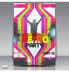 Retro party flyer vector