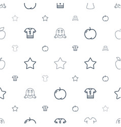 Rounded icons pattern seamless white background vector