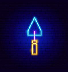 Scraper neon sign vector