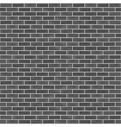 Seamless black brick wall vector