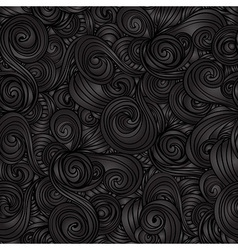 Seamless dark wave hand-drawn pattern vector