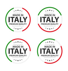 set of four italian icons english title vector image