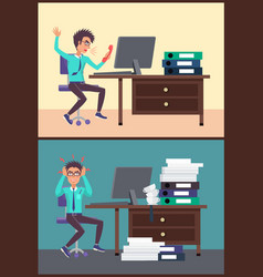 shouting businessman in office vector image