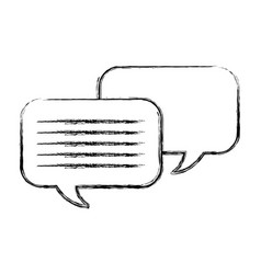speech bubbles chat icon vector image