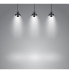 Spotlight background vector image
