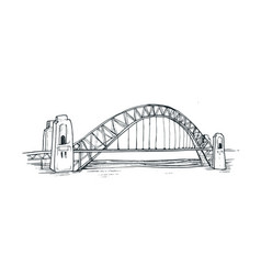 sydney harbour bridge vector image