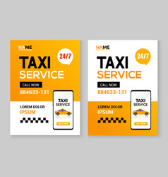 Taxi service flyer layout template taxi car vector