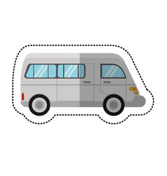van commercial transport vehicle shadow vector image