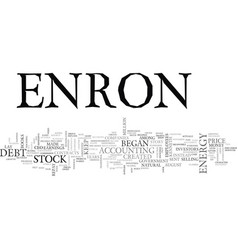 What happened at enron text word cloud concept vector