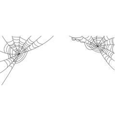 White halloween banner with spider web design vector