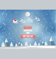 winter season with snowflake and santa vector image