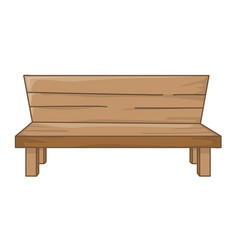 wooden bench isolated vector image