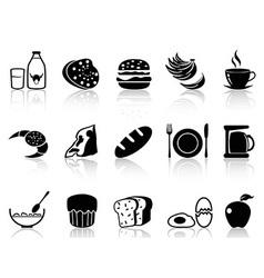 breakfast icons set vector image vector image