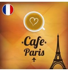Cafe Paris vector image vector image