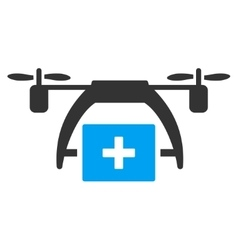 First Aid Drone Icon vector image vector image