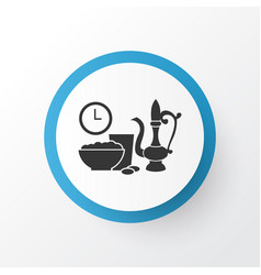 iftar icon symbol premium quality isolated meal vector image vector image