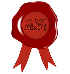 mothers day wax stamp vector image