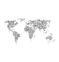 World map dots vector image