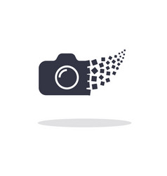 camera photography logo icon template vector image vector image