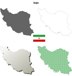 Iran outline map set vector image vector image