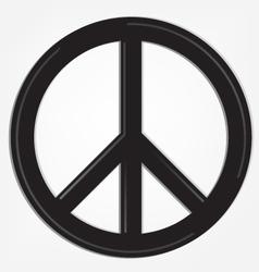 peace sign logo vector image