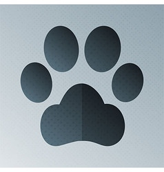 Pets footprint halftone stylized vector