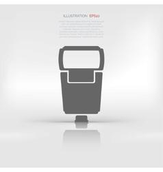 Photo camera flashlight vector image